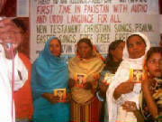 Group photo after Free Holy Bible CD's
