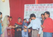 Holy Bible CD's Distribution after Church Mass