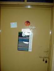 Text & Graphic Stickers at home door, Glory to God